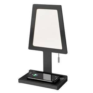 Nordium Charged LED Wireless Charging Table Lamp in Black (ND121103)