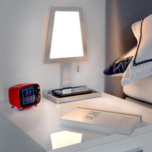 Nordium Charged LED Wireless Charging Table Lamp in Aluminium (ND121200)