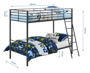 Dorel Home Convertible Single over Single Bunk Bed in Black