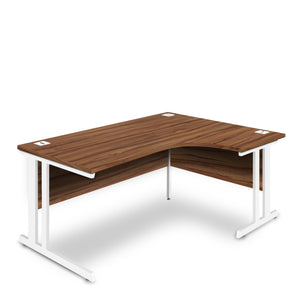 Nautilus Designs Aspire - Ergonomic Right Hand Corner Desk - 1800mm Wide with Cable Management & Modesty Panels