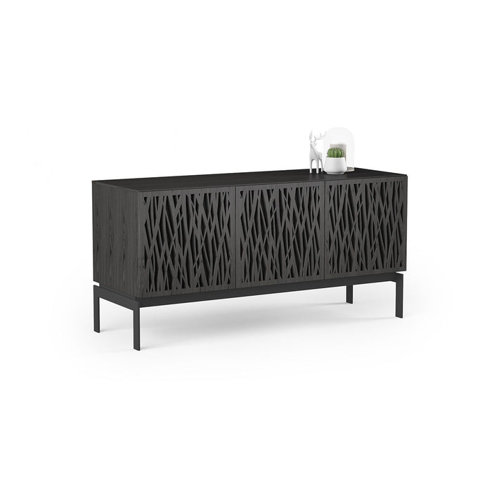 BDI Elements 8777 Wheat Charcoal Stained Ash Console Unit