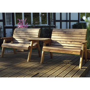 Charles Taylor Two Seater Bench Set with Straight Tray (HB115B)