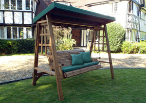 Charles Taylor Dorset Three Seater Swing in Green (HB134G Set)