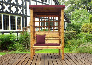 Charles Taylor Bramham Two Seater Arbour in Burgundy (HB135B Set)