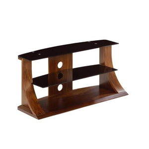 Jual Florence Curved Walnut TV Stand with Black Glass (JF201 WB 1100)