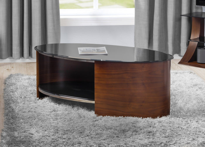 Jual San Marino Curved Walnut Coffee Table (JF301 WB)