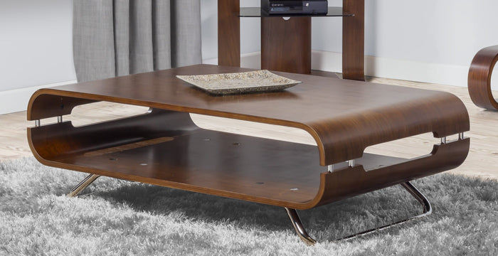 Jual San Marino Curved Walnut Coffee Table (JF302 WB)