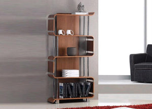 Jual Bali Curved Bookcase in Walnut (BS201-WAL)