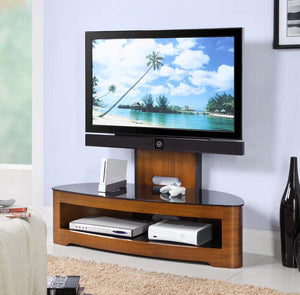 Jual Florence Curved Walnut Cantilever TV Stand (JF209 WB)