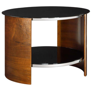 Jual San Marino Curved Walnut Round Lamp Table (JF303WB)