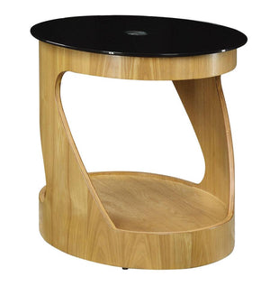 Jual San Marino Curved Oak Oval Lamp Table (JF304 OB)