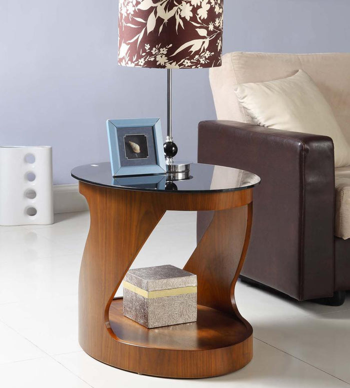 Jual San Marino Curved Walnut Oval Lamp Table (JF304 WB)