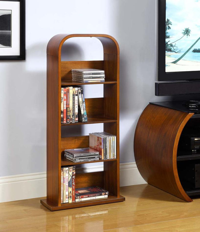 Jual San Marino Curved Walnut DVD/CD Rack (JF501)