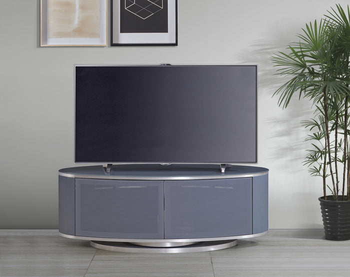 MDA Designs Luna Grey Oval TV Cabinet
