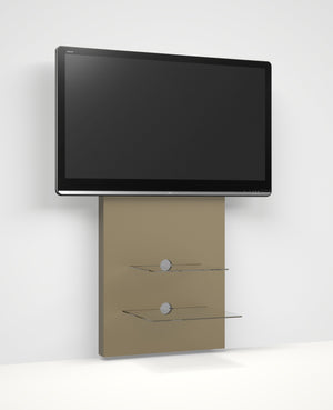 Alphason Mercury Wall Mounted TV Stand with Glass Shelves in Raw MDF