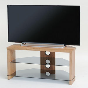 TTAP Montreal TV Stand in Oak and Clear Glass (TVS1004)