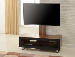 TTAP Munich Walnut Cantilever TV Stand with Bracket (MUN-1250-WAL)