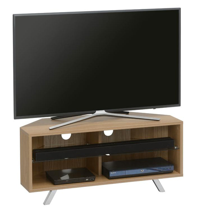 TTAP Oregon TV Stand in Oak and Clear Glass (TVS1006)