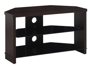 TTAP Montreal TV Stand in Walnut and Black Glass (MON-800-WAL)