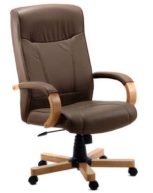 Teknik Richmond Brown Leather Executive Chair (8511HLWBN)