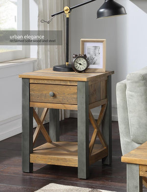 Baumhaus Urban Elegance - Reclaimed Lamp Table With Drawer