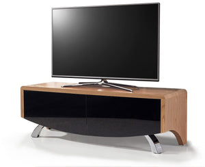 MDA Wave 1200 Hybrid Oak TV Stand For Up To 60""