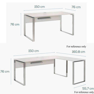 Maja YAS 1500mm Width Office Desk in White (1526 5534)