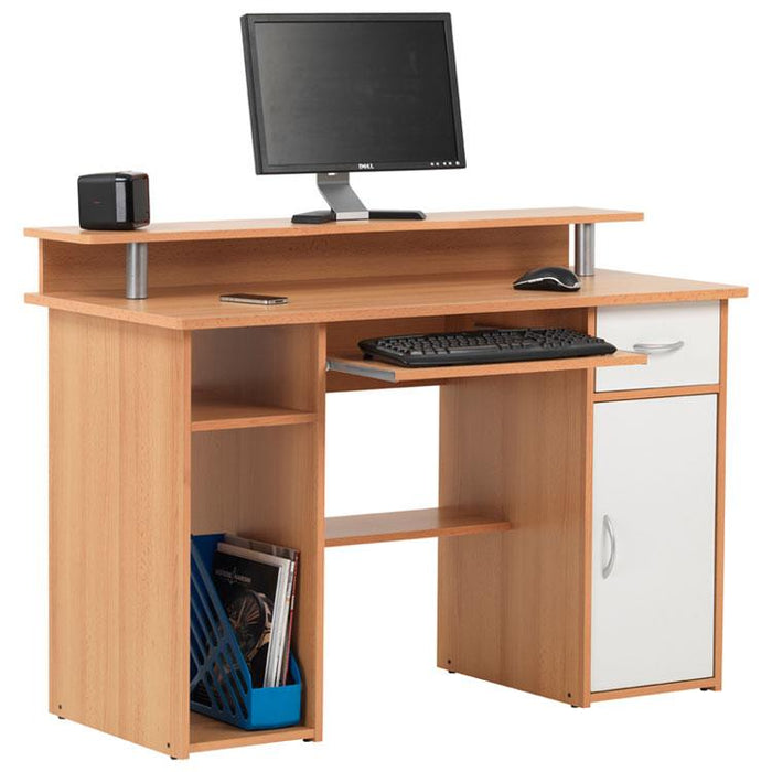 Alphason Albany AW12362-BC Beech Computer Desk