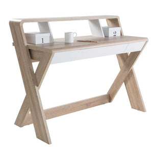 Alphason Aspen AW2110 Oak and White Desk