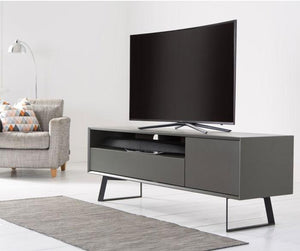 Alphason Carbon 1600 Black and Grey TV Stand ADCA1600-GRY