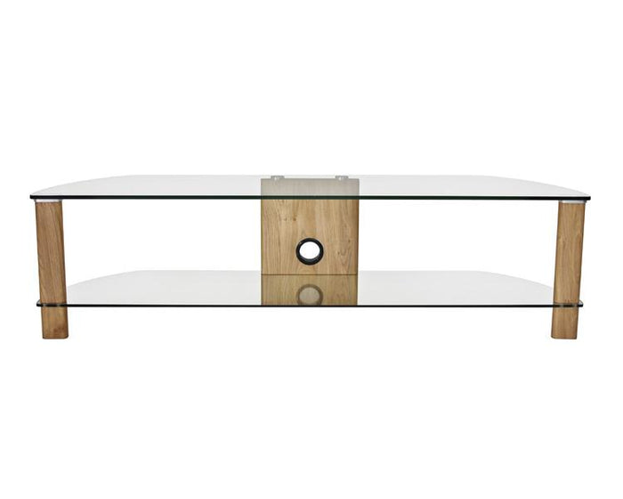 Alphason Century ADCE1500-LO Clear Glass TV Stand