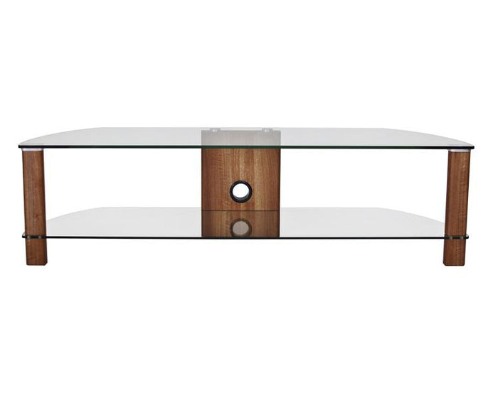 Alphason Century ADCE1500-WAL Clear Glass TV Stand