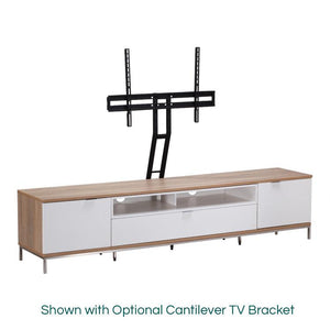 Alphason Chaplin 2000 White & Oak ADCH2000-WHT TV Cabinet
