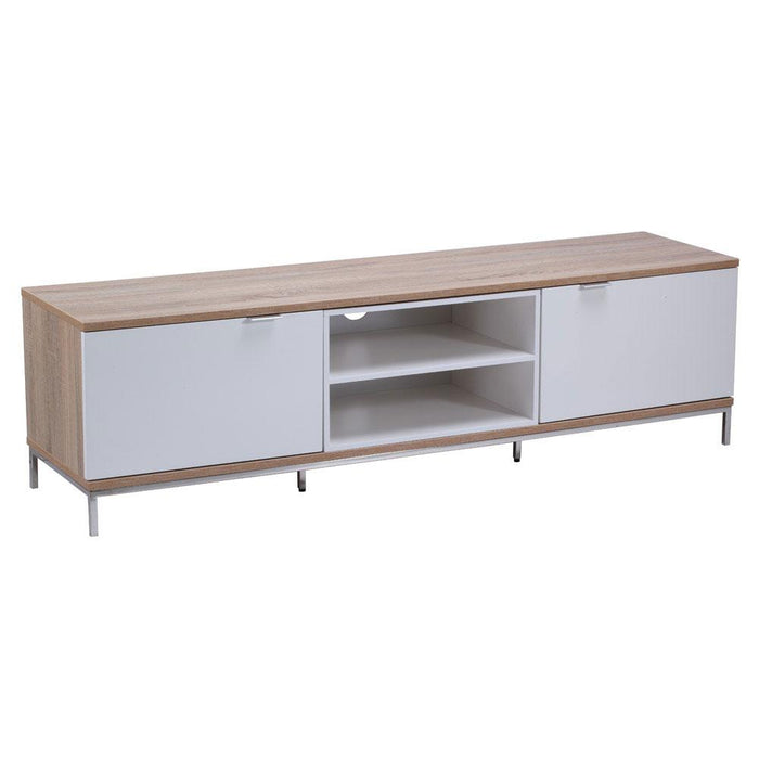 Alphason Chaplin ADCH1600 White / Light Oak TV Cabinet