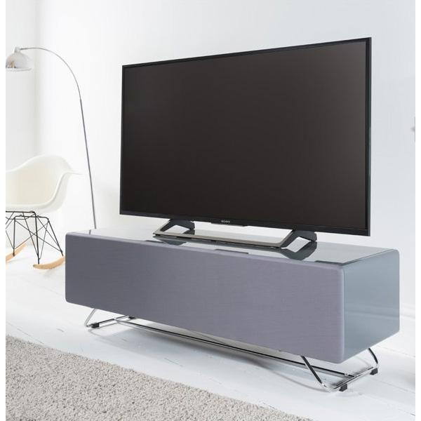 Alphason Chromium Concept 1200mm TV Stand in Grey with Speaker Mesh Front (CRO2-1200CPT-GR)