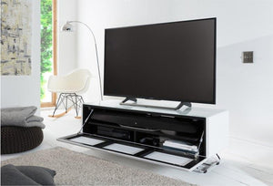 Alphason Chromium Concept 1200mm TV Stand in White with Speaker Mesh Front (CRO2-1200CPT-WH)