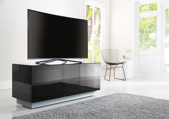 Alphason Element EMT1250XL High Gloss Black TV Cabinet 520mm Tall