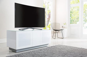 Alphason Element EMT1250XL High Gloss White TV Cabinet 520mm Tall