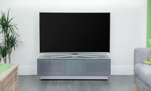 Alphason Element EMT1250 High Gloss Grey TV Cabinet