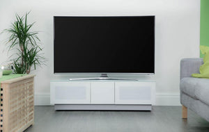 Showroom Sale - Alphason Element EMT1250 High Gloss White TV Cabinet