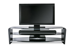 Showroom Sale - Alphason Francium Black TV Stand - FRN1400/3-BLK