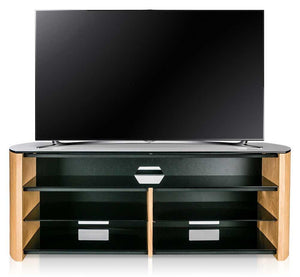 Alphason Finewoods Light Oak Soundbar Ready TV Stand - FW1350SB-LO