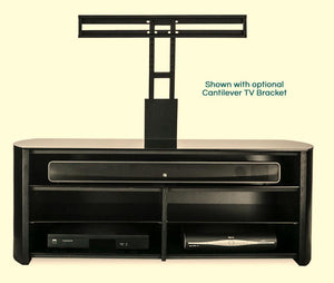 Alphason Finewoods Black Oak Soundbar Ready TV Stand - FW1350SB-BLK