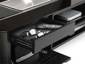 Showroom Sale - Alphason Finewoods FW1100CB-BLK Black Oak TV Stand