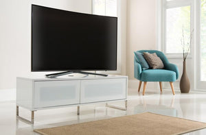 Alphason Helium 1200mm White Wall Mountable / Free Standing TV Stand (ADHE1200-WHI)