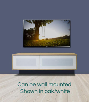 Alphason Helium 1200mm Oak and White Wall Mountable / Free Standing TV Stand (ADHE1200-LO)