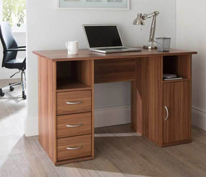 Alphason Maryland Walnut Computer Desk