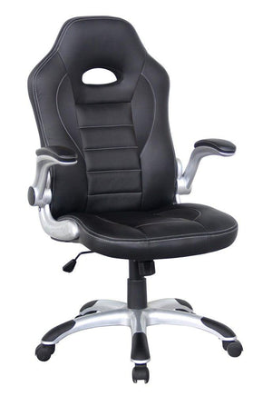 Alphason Talladega Black Leather Racing Style Executive Chair