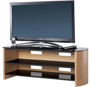 Alphason Finewoods Light Oak TV / Hifi Stand - FW1350-LO/B