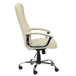 Alphason Houston Cream Leather Chair (AOC4201A-L-CM)